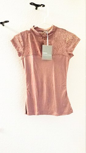 3 Suisses Lace Top rose-gold-coloured viscose