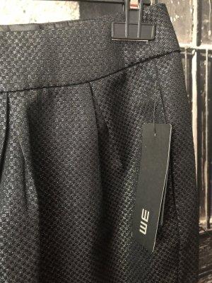 WE Fashion Spódnica w kształcie tulipana czarny-srebrny