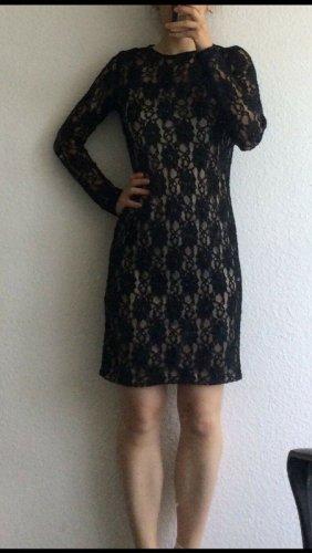 Neu mit Ettiket - Elegantes Zara Basic Kleid schwarze Spitze midi