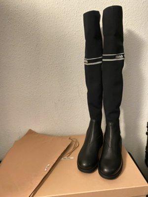 Miu Miu Kniehoge laarzen zwart