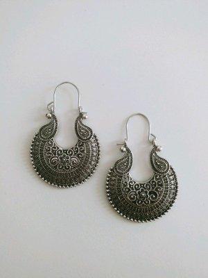 Keine Marke Silver Earrings grey-silver-colored