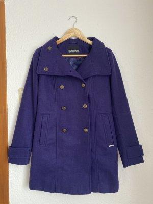 Bruno Banani Wool Coat dark violet wool