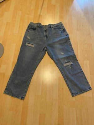 NEU Mom Jeans Gr.50 blau destroyed Hose