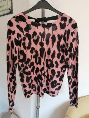 Moschino Cashmere Jumper black-neon pink cashmere