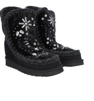 NEU: Mou Boots mit Keilabsatz & Crystal-Vezierungen
