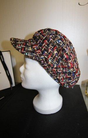 Cappello con visiera multicolore
