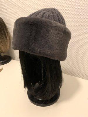 Marks & Spencer Fur Hat grey lilac-grey violet