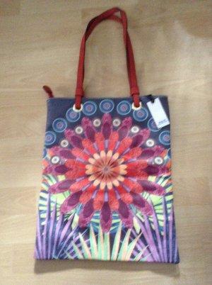Neu Multicolor Prints Bunt- Flower Tasche