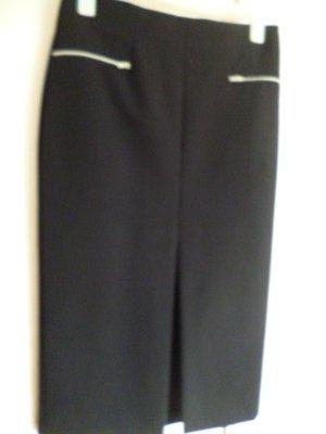 NEU! Must have: -ZARA Women-sexy Schnitt  Rock schwarz, mittiger Schlitz, L ca. 78 cm wadenlang (bei Gr.170 cm)  nur Zierzipps, keine Taschen, rückwärts lt. Foto