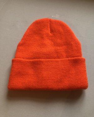 keine Cappello di lana arancio neon