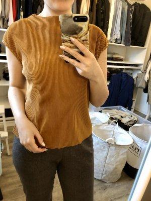 NA-KD Glanzende blouse cognac