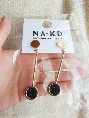 Neu Na-kd Ohrringe Gold Marmor Design Schmuck Schick Elegant