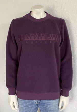Neu Napapijri Sweatshirt Gr. S lila Logo