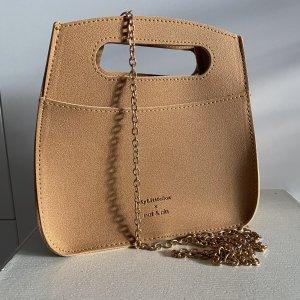 Neu nat&nin Leder Tasche klein Goldene Kette