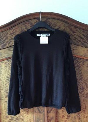 Comme des Garçons Wool Sweater black mohair