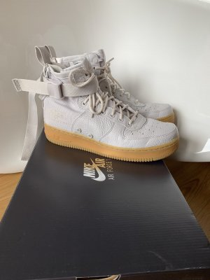 NEU Nike Air Force 1 one hellgrau beige Specksohle high top