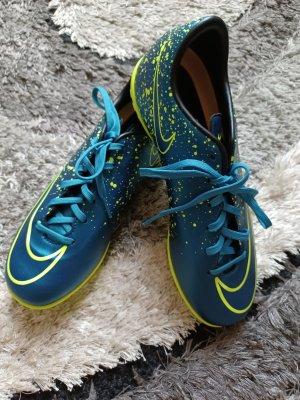 NEU Nike Kunstrasenschuhe [Blau-Neongelb, Gr. EU 38,5]