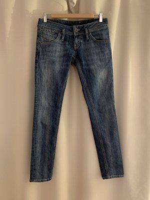 NEU NP 139€ Tommy Hilfiger Denim Figurbetonte Stretch Jeans Röhrenjeans Hose Stretch 34 36 Blau Baumwolle
