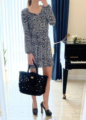 NEU! NP 150€, Luxus Kleid von Tart Collection, Leo print, blatöne, Größe XS S 34 36