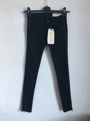 NEU NP 200€ Rag Bone Jeans Tuxedo Zipper schwarz blau Hose Skinny