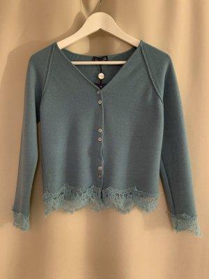 Neu NP 261€ Trussardi Wolle Kaschmir Pullover Spitze XS Wollpullover Pulli Designer Sweatshirt Shirt Top