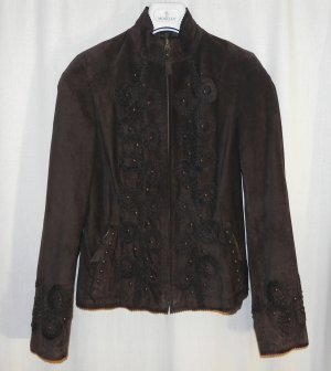 Leather Jacket brown suede