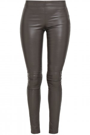 NEU NP ca.1000€ Lederhose Lederleggings Joseph Hose aus echtem Leder in Grau Stretch Leggings