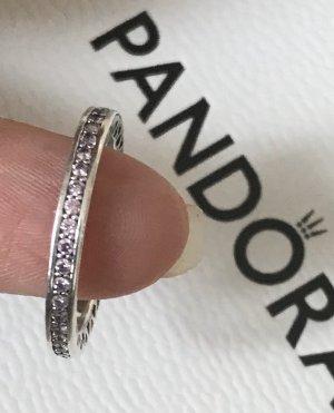 Neu NP59 Pandora Strahlende Herzen rosa Ring Gr.50