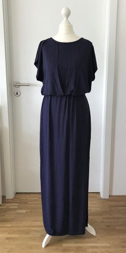 NEU Oasis Maxikleid XS 34 Navy Bodenlang Rock Gipsy Boho Maxi Kleid Dress Blau