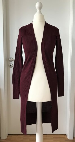 NEU Oasis Strick Mantel XS Strickjacke Long Cardigan Bordeaux Weinrot Pullover