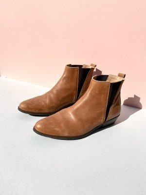 Neu Office London Chelsea Leder Boots Ankle Street Style Blogger Cosy Vintage Cognac