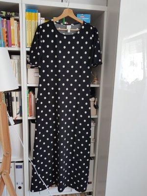 neu ohne Etikett Kleid von H&M Polka Dots Punkte schwarz Größe 40