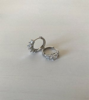 NEU Ohrringe Ohrhänger vergoldet Ohrstecker Mini Creolen Kristallen Gold Hoops