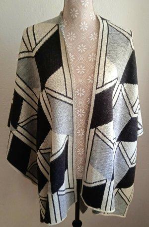 Opus Knitted Scarf black-white polyacrylic