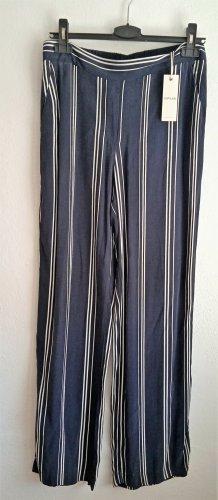 Opus Palazzo Pants white-dark blue copper rayon