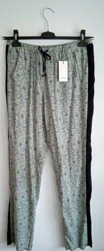 Opus Pantalon large vert pâle-bleu foncé viscose