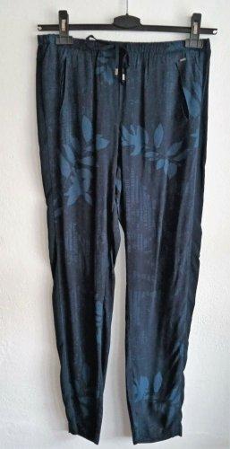 Opus Pantalon large bleu foncé-bleu viscose
