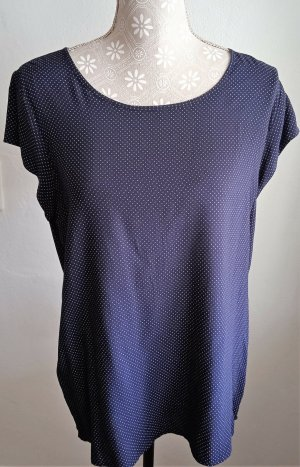 Opus Blouse topje donkerblauw-wit Viscose