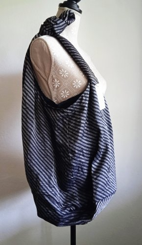 Opus Torebka typu worek czarny-srebrny Wiskoza