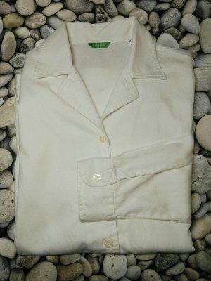 Neu! Orginal Benetton Bluse, weiß, Gr. M