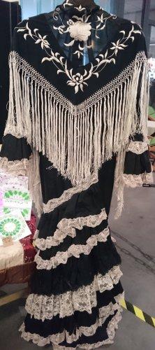 * NEU * Original Andalusisches Designer-Flamencokleid aus Seide + Spitze