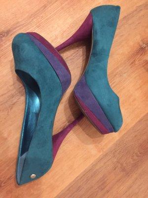 NEU Original Blink High Heels Türkis/Violett