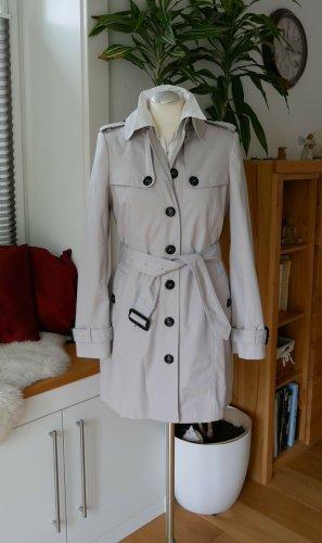 Neu Original Burberry Trenchcoat Gr36/S stone beige/grau Mantel einreihig weiß creme