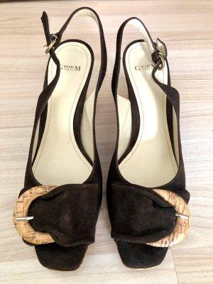 Neu Original Giorgio M Peep Toe Slingback Heels