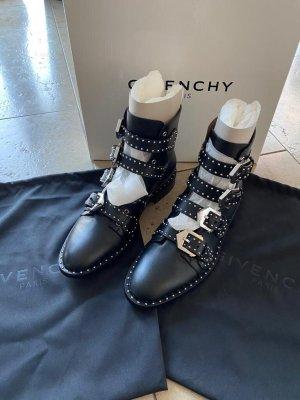 Givenchy Botas del desierto negro-color plata