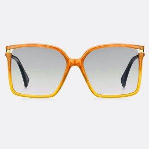 Givenchy Angular Shaped Sunglasses dark orange-bronze-colored acetate