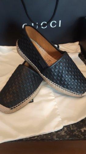 Gucci Chaussure skate noir cuir