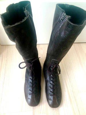 Prada Laarzen met bont donkerbruin