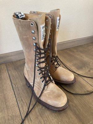 Primeboots Botas con cordones marrón claro-camel Cuero