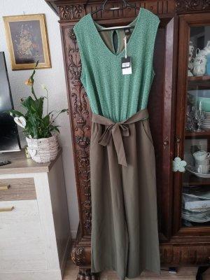 cest paris Langer Jumpsuit lime-green-khaki cotton